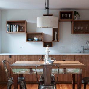 Использование в интерьере кухни стиля гранж