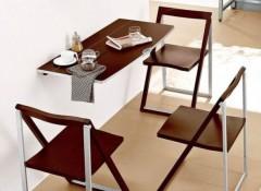 Варианты и особенности подвесных складных столов на стену