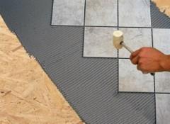 Как на ОСБ плиту на полу уложить плитку?
