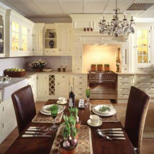 Использование в интерьере кухни английского стиля