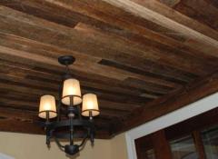 Использование для отделки потолков массива дерева