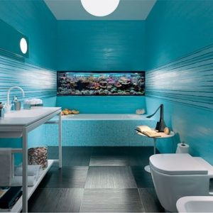 Оформление интерьера ванной в морском стиле