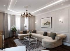 Стиль неоклассика в интерьере гостиной