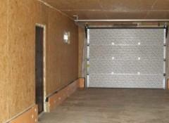 Использование для отделки гаража ОСБ-плит