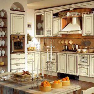 Использование в интерьере кухни стиля винтаж