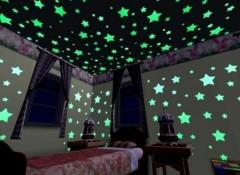 Особенности и виды светящихся звездочек на стену