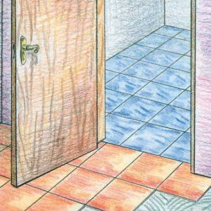 Как с помощью жидких гвоздей укладывать плитку на пол?