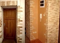 Использование декоративного камня для отделки дверных откосов