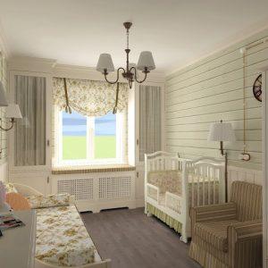 Использование стиля прованс в отделке стен