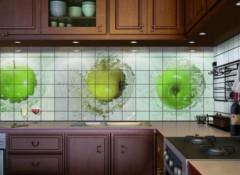 Варианты отделки плиткой фартука на кухне