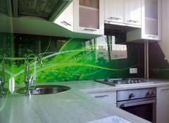 Разновидности и особенности использования на кухне стеклянного фартука