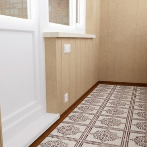 Использование теплого пола под плитку на балконе