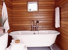Деревянные стены в ванной — как выполняется гидроизоляция?