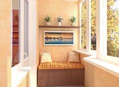 Использование жидких обоев для отделки балкона