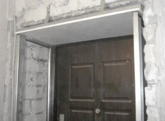 Использование гипсокартона для отделки дверных откосов