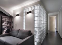 Использование стеклянного кирпича для создания перегородок и стен