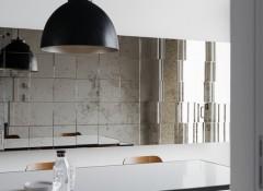 Использование в отделке стен зеркальной плитки