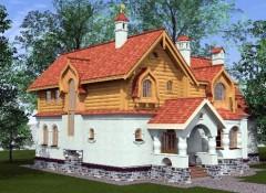 Русский стиль в оформлении фасадов