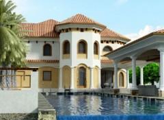 Применение средиземноморского стиля в оформлении фасада дома