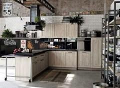 Использование стиля лофт в оформлении фасада кухни
