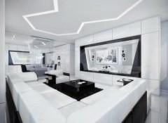 Использование стиля хай-тек в интерьере гостиной