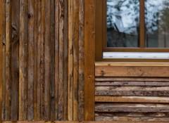 Использование горбыля для отделки фасада