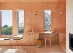 Использование фанеры для отделки стен внутри дома