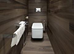 Использование ламината для отделки стен в туалете