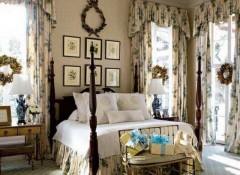 Использование английского стиля в оформлении спальни