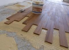 Как на бетонный пол укладывать паркетную доску?