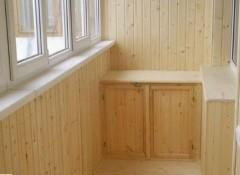 Использование деревянной вагонки для отделки балкона