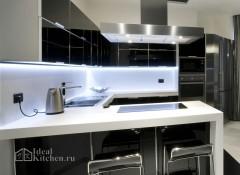 Использование в интерьере кухни стиля хай тек