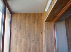 Использование МДФ для отделки стен балкона