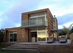 Стиль минимализм в оформлении фасада дома