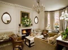 Использование в интерьере гостиной английского стиля