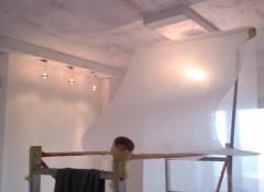 Использование стеклохолся для отделки потолка