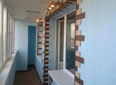 Варианты отделки стен на балконе