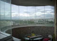 Полукруглый балкон — особенности отделки
