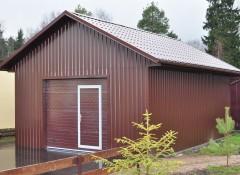 Использование профнастила для отделки стен гаража