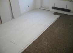 Как на бетонный пол укладывают ГВЛ?