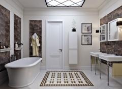 Использование стиля неоклассика в ванной комнате