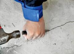 Трещина в бетонной стене — как заделать?