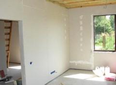 Использование гипсокартона для отделки деревянных стен