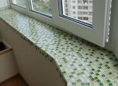 Использование плитки для отделки подоконника
