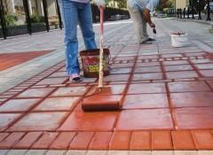 Бетон на улице — чем его можно покрасить?