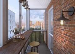 Использование в оформлении балкона стиля лофт