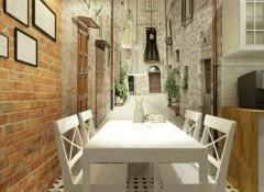 Расширение пространства в интерьере кухни с помощью фотообоев