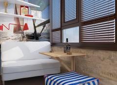 Использование морского стиля в оформлении интерьера балкона