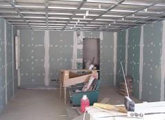 Отделка гипсокартоном стен гаража