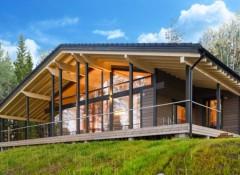 Характерные черты и варианты оформления дома с террасой в стиле шале